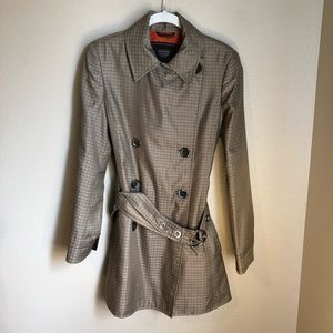 Coach Trench Coat with Logo Pattern